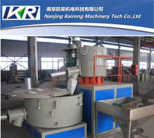 Hot and cold mixing unit for PVC