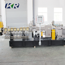 High quality plastic conical co- rotating twin screw extruder for makingv plastic pellets