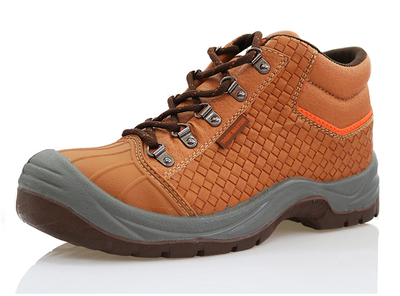 High ankle tiger master brand steel toe safety shoes for men