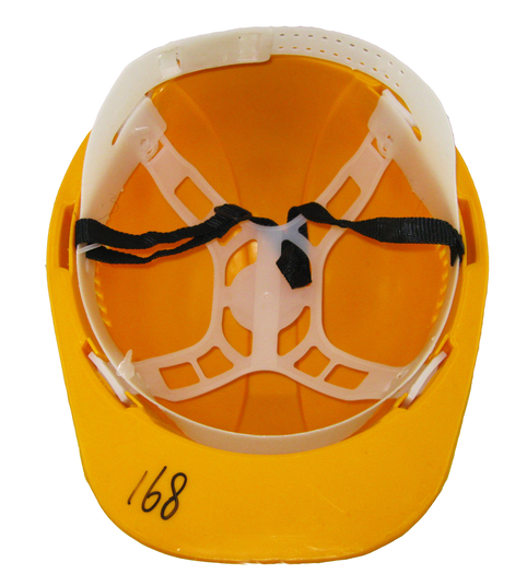 Orange color HDPE engineering safety helmet price