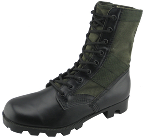99059 vulcanized leather and fabric army jungle boots
