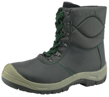 Leather upper PU sole workman safety shoes