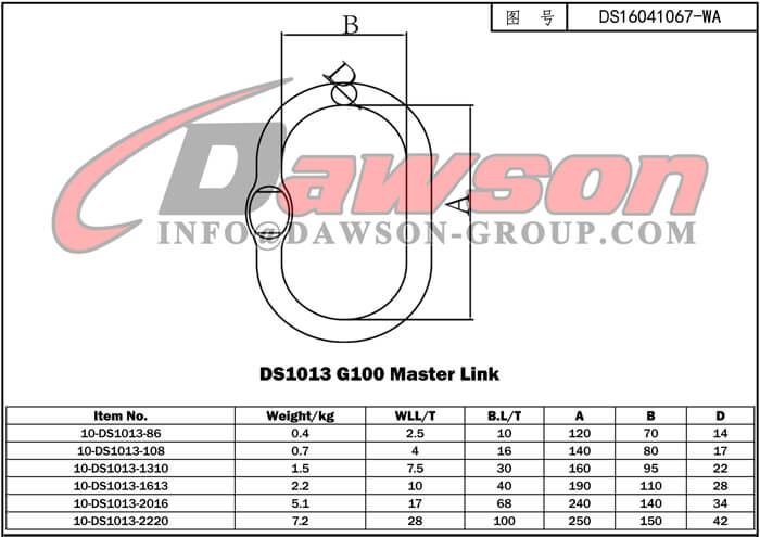 DS1013 G100 Master Link - Dawson Group Ltd. - China Manufacturer Supplier