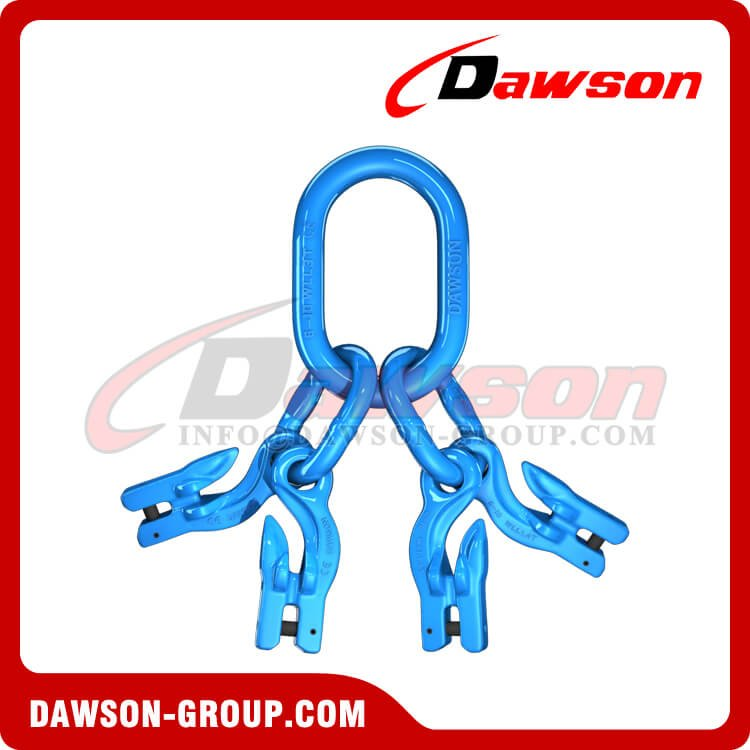 G100 Master Link Assembly + G100 Eye Grab Hook with Clevis Attachment×4 - Dawson Group Ltd. - China Supplier, Factory