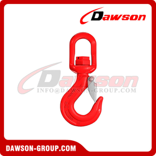DS788 G80 Swivel Hook with Latch with Bearing for Crane Lifting Chain Slings