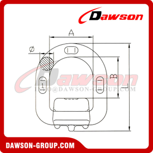 DS242 G80 / Grade 80 D Ring with Wrap, Lifting Points