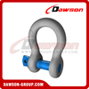 Dawson Brand Hot Dip Galvanized US Type Bow Shackle with Screw Pin, S6 High Strength Screw Pin Anchor Shackle
