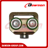 Zinc Plated Steel Roller With Plastic Green Color for Curtain Truck