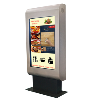 Dedi 43 Inch Waterproof Outdoor Advertising LCD Displayer Totem Digital Signage Kiosk