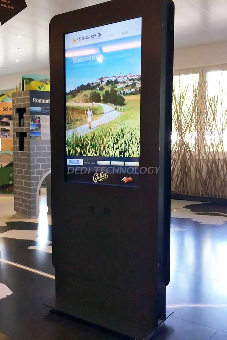 Dedi 55inch ip65 waterproof outdoor digital signage, high brightness lcd advertising display, outdoor advertising 1080p kiosk