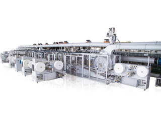 Full-Servo Control T/O Baby Pull-up Diaper Production Line