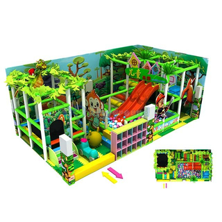 Jungle Theme Amusemet Soft Small Indoor Play Equipment for Kids