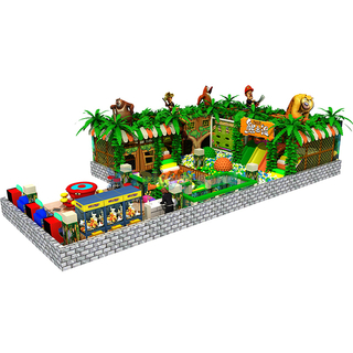 Jungle Themed Adventure Indoor Soft Play Equipment with Ball Pit