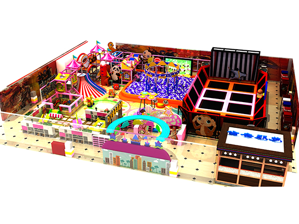 candy theme soft indoor playground