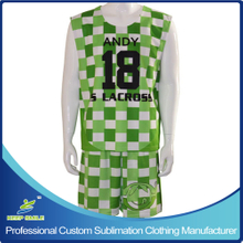 Sublimation Sports Reversible Lacrosse Uniform for Basketball Sports Wear