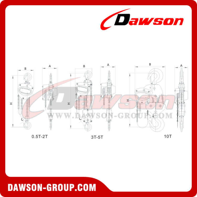 DSVD Chain Block, Chain Hoist for Construction Site