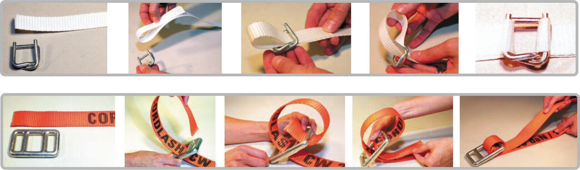 how to use polyester lash webbing