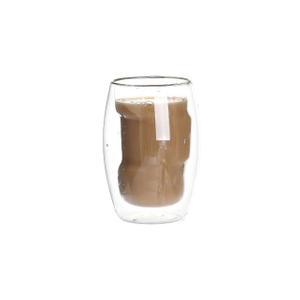 13.5oz double wall glass coffee cup