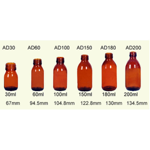 30-200ml Glass Pharmaceutical Bottles