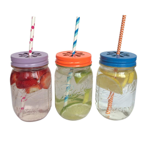 Ball Jar with Straw