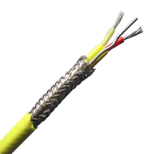 FEP insulated thermocouple extension wire with drain and stainless steel inner shield