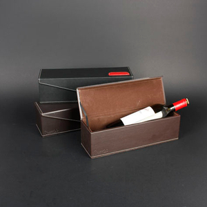 Wine Box Manufacturer PU leather luxury wooden wine box 12