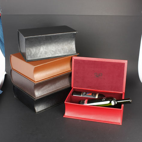 Wine Box Manufacturer White PU leather 15ml bottle paper box