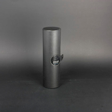 Wine Box Manufacturer Black PU leather round tube gift box