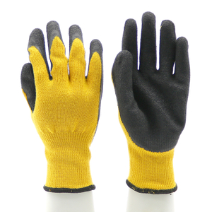 Anti Slip Oil Resistant Black Latex Work Glove CE EN 388