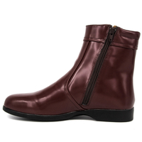 MILFORCE 1248 red brown ankle casual office chelsea boots