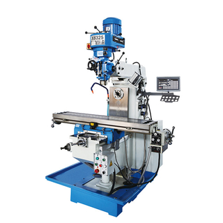 X6325U Milling Machine With X,Y Power Feed & 3 Axis DRO Optional