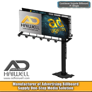 Cantilever Column Advertising Billboard Sign