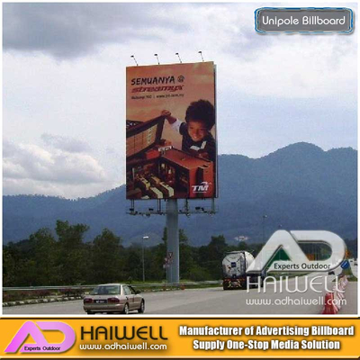 Unipole Hoarding Billboard Structure on Sale in China Supplier