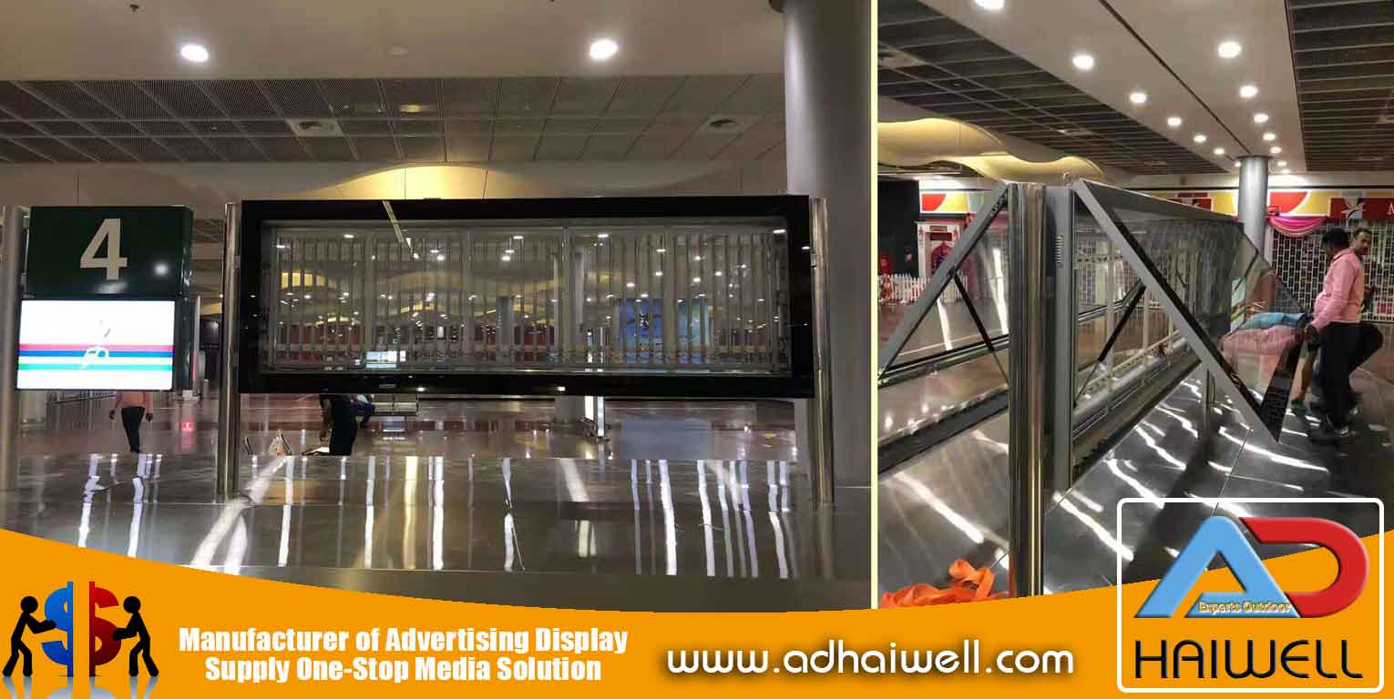 Adhaiwell-team-install-scroller-at-Mauritius-Airport