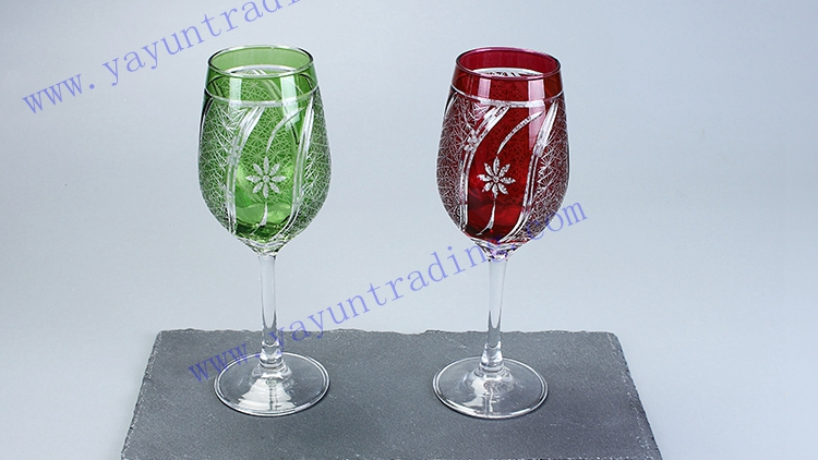classic handmade red wine glass