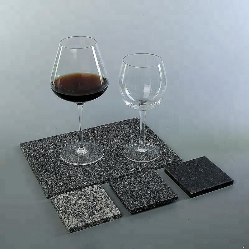 natural stone coaster for elegant hand cut glass