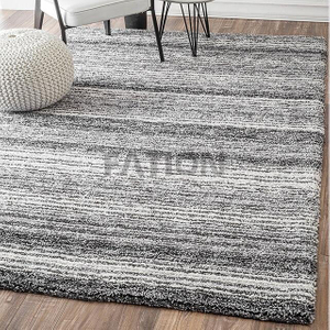 5'×8' Contemporary Rug Grey Multi Polyester Shag Rugs