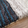 5'×8' Blue Multi Handmade Area Rug Modern Shag Carpet