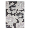 5'×8' Grey Multi Beautiful Flower Shaggy Rug