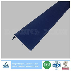 Aluminum Profile with Blue Powder Coating