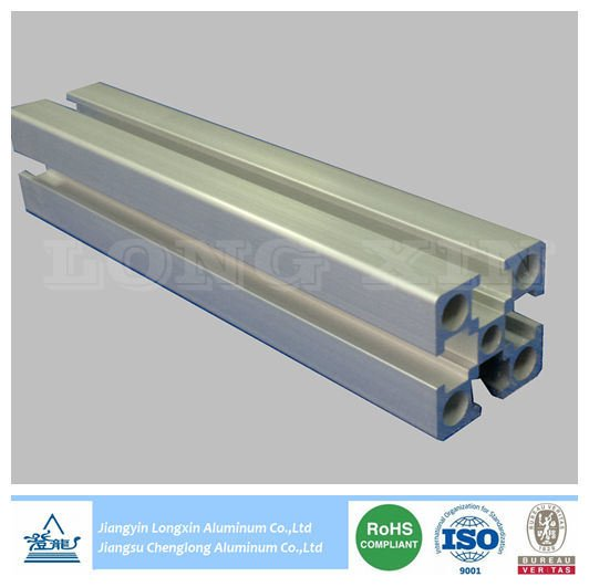 Silver Matt Anodized Aluminum Profile for Industry