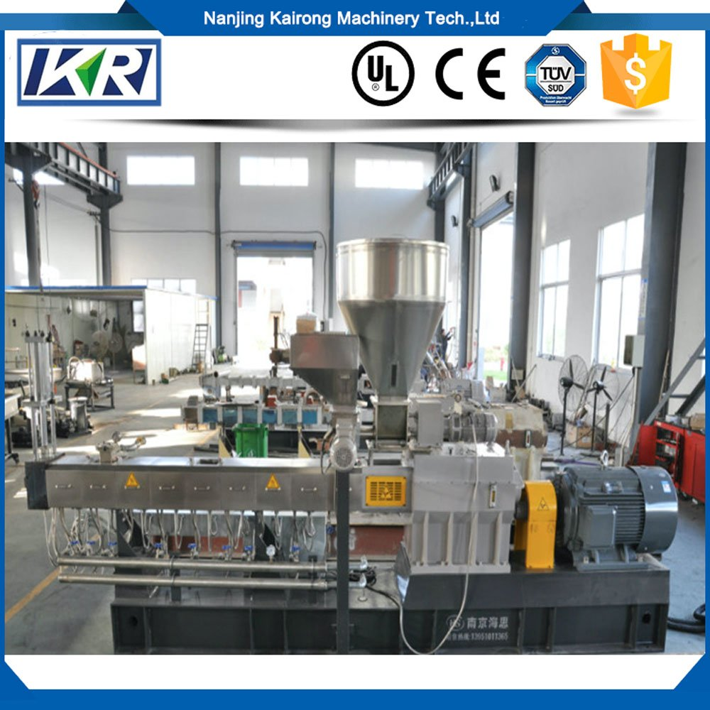 Biodegradable Starch Granule Twin Screw Extruder Plastic Compound Machine