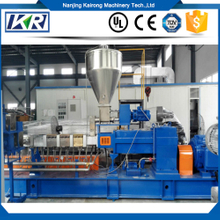 The Compound Polyethylene Granules Extruding Machine/Air Cooling Hot Face Cutting PE Pellets Twin Screw Extruder