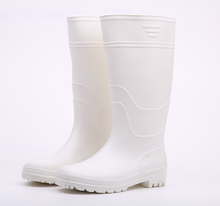 Food industry white rain boots pvc