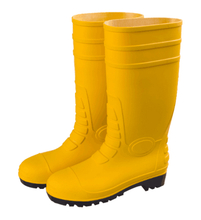 New collection yellow steel toe safety rain boots