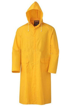 Yellow long pvc polyester pvc rain coat jacket