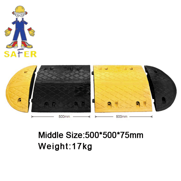 rubber road hump with high density rubber