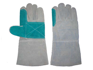 1305 reinforced palm leather welding working safety gloves