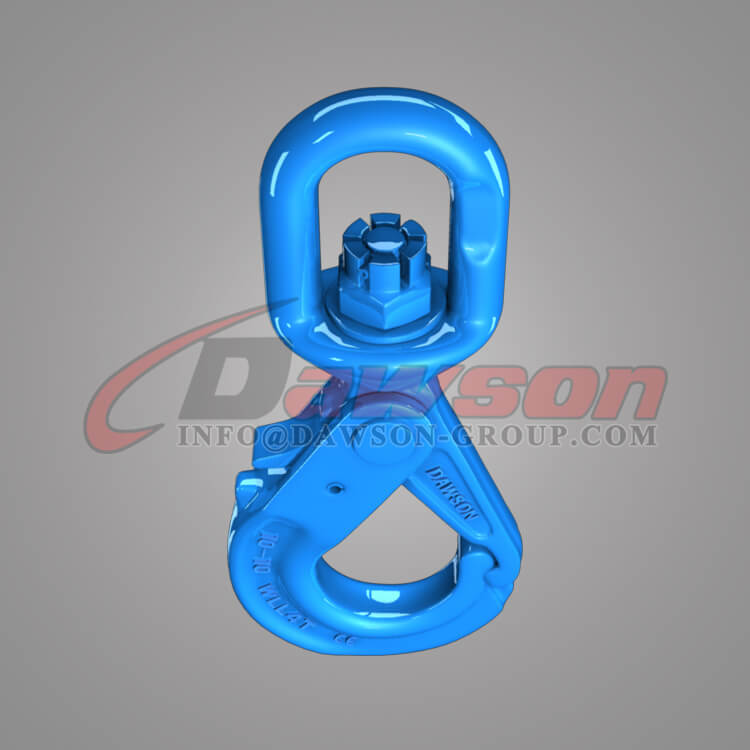 Dawson Grade 100 Special Swivel Self-locking Hook with Grip Latch for Chain Slings - China Factory, Exporter