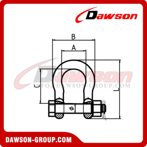 DS853 High Strength G8 Bow Shackle